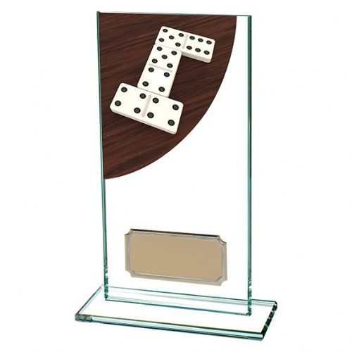 Colour Curve Dominoes Jade Glass Award 160mm